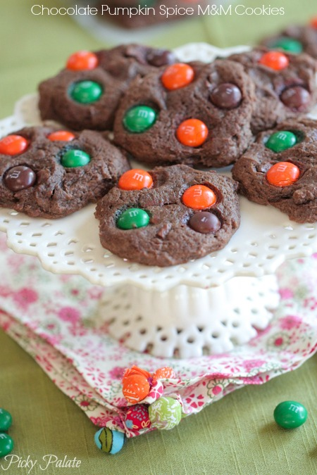 Chocolate-Pumpkin-Spice-M-and-M-Cookies