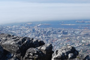 The ports of Cape Town from the mountain.