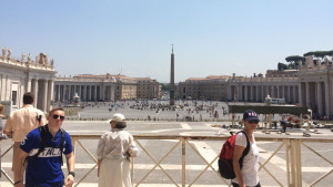 The open square of the Vatican city, the smallest country in the world.