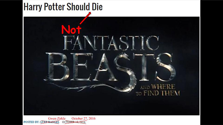 Harry Potter Should Not Die